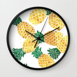 Summer Pineapple Goodness Wall Clock