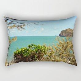 Beautiful tropical coastal view Rectangular Pillow