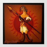 martell Canvas Prints featuring The Red Viper by Giovanni Ariutti