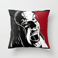 laura palmer Throw Pillows featuring Laura Palmer by Shawn Dubin