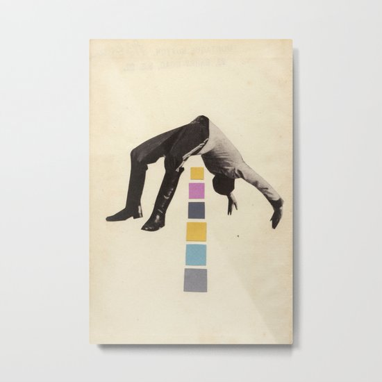 High Jump Metal Print
