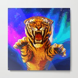 A Formidable Foe (Eyes of the Tiger) Metal Print
