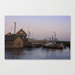 Courttown Harbour Wexford at dusk Canvas Print