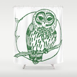 Forest Lover's Owl Shower Curtain