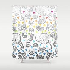 Hypno Animals Shower Curtain