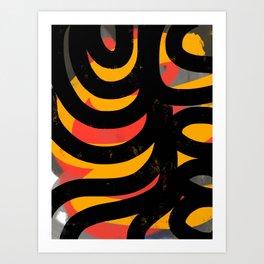 African Art Abstract Jungle #Pattern #Design Art Print
