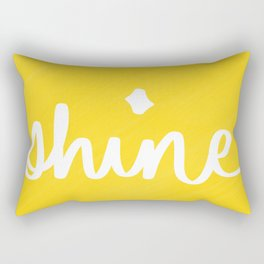 Shine on Yellow Rectangular Pillow
