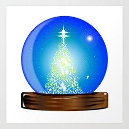 Christmas Globe Tree Art Print