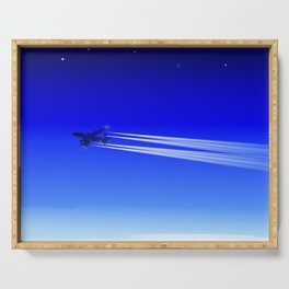 Jet Heading Home Serving Tray