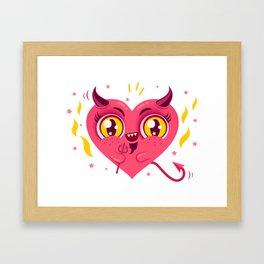 Devil heart Framed Art Print