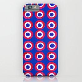 Donut Evil Eye Amulet Talisman - red on blue doughnut iPhone Case