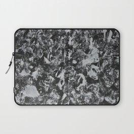 White Ink on Black Background #1 Laptop Sleeve