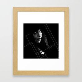 Cyborg Beauty Framed Art Print