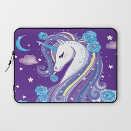 Magical Unicorn in Purple Sky Laptop Sleeve