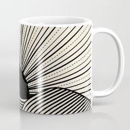 Radiant sun minimal landscape - black lines on neutral Coffee Mug