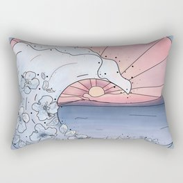 Flower Wave Rectangular Pillow