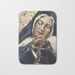 The Ecstasy XI.Sleep of Peace .St. Bernadette Soubirous Bath Mat