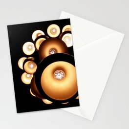 Abstract chandelier, abstract pattern lights Stationery Cards