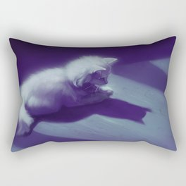 Melancholy Cat Rectangular Pillow