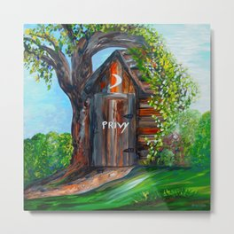 Outhouse - PRIVY Metal Print