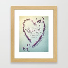 Walk in Love Framed Art Print