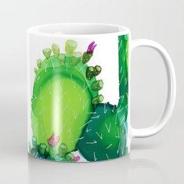 Opuntia 1 - Acohol Ink Coffee Mug
