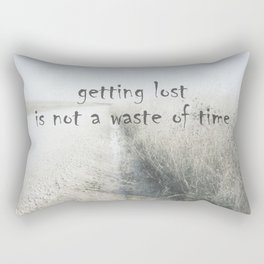 Quote Getting Lost On Country Road Rectangular Pillow