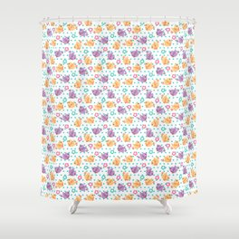 Freely Birds Flying - Fly Away Version 2 - Sky Blue Dots Color Shower Curtain