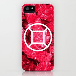 Ruby Candy Gem iPhone Case
