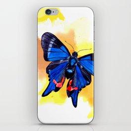 Blueberry Breeze Splash iPhone Skin