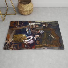 Jan Steen The Drawing Lesson Rug