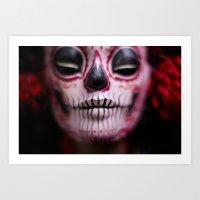 Midnight Harvest Muertita Detail Art Print
