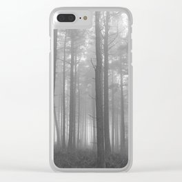 In the Misty Trees Clear iPhone Case