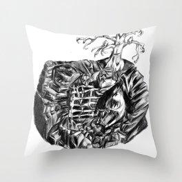 fright Zone Throw Pillow