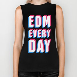 EDM Every Day | Rave & Music Festival Design Biker Tank