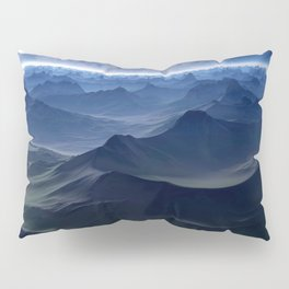 High mountains in the night light Pillow Sham