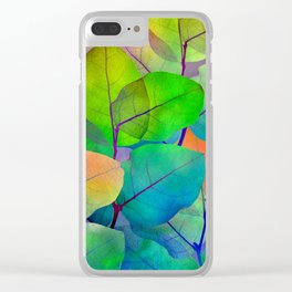 Translucent Leaves Clear iPhone Case
