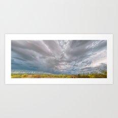 Rainy Desert Horizon Panorama Art Print