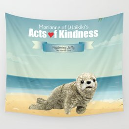 Jeffy The Harbor Seal Wall Tapestry