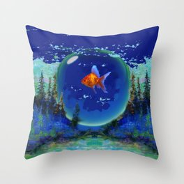 Wet And Surreal  Wilderness Landscape  Throw Pillow