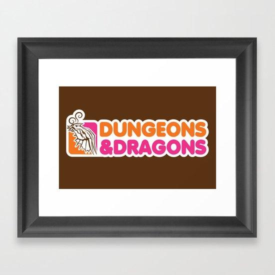 D&D All Nighter Framed Art Print