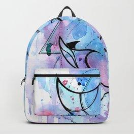 Сramp - fish ~ watercolor geometry graphic Backpack