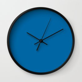 Sapphire blue - solid color Wall Clock