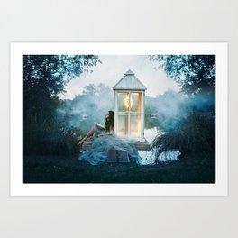 Illuminate my imagination Art Print