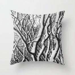 sleepy trees Throw Pillow