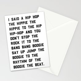 Rappers Delight Sugar Hill Gang Stationery Cards