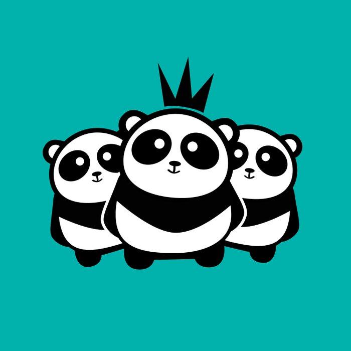 Panda Gang Duvet Cover