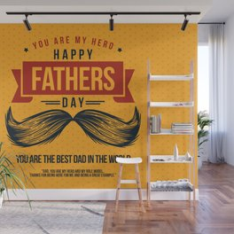 Happy Father's Day, My Daddy is my Superhero Wall Mural