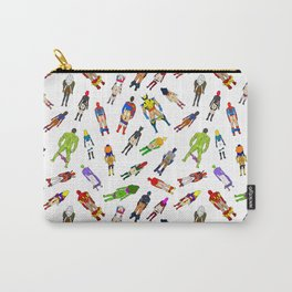 Superhero Butts with Villians - Light Pattern Carry-All Pouch