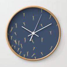 Tiny Naked Swimmers Wall Clock
